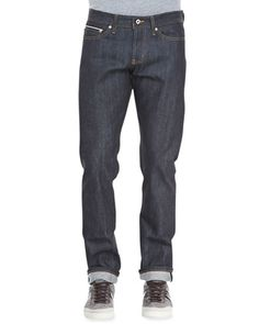 WeirdGuy Left Hand Indigo Selvage Jeans by Naked and Famous Denim at Neiman Marcus.