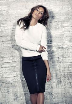 Nicole X - Tops - Missguided Nicole X Biker Sleeve Neoprene Sweatshirt White