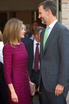 King Felipe VI of Spain and Queen Letizia of Spain attend the opening of the University Year at the Fabrica de Armas Campus on 30.09.2014 in Toledo, Spain.