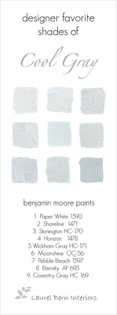 9 Fabulous Benjamin Moore Cool Gray Paint Colors Http Home Painting