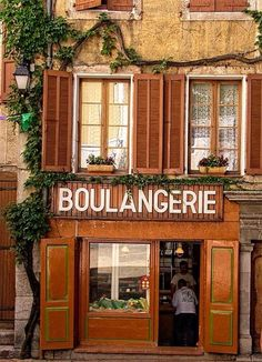 A bakery in a small French village