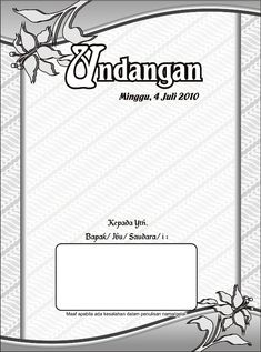 Download Desain Undangan Pernikahan Format Vector Corel Draw Gratis undangan-pernikahan-1 motif batik Microsoft Excel Formulas, Microsoft Word 2010, Microsoft Office, Shadi Card, Powerpoint Background Design, Wedding Invitation Background, Marriage Cards, Wedding Picture Frames, Calendar Design