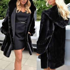 Women Thick Parka Leather Fur Hooded Coat Outwear Padded Long Jacket Trench Tops #Unbranded #Parka