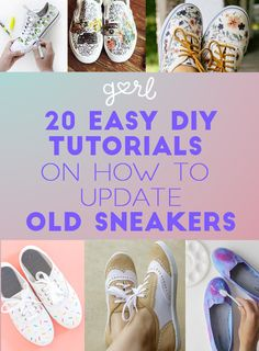 20 Easy DIY Tutorials On How To Update Old Sneakers