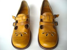 Vintage Honey Mary Jane Shoes by Baxtervintage on Etsy, $45.00