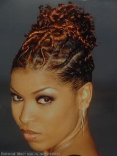 By pam webster. UP-DO WITH FLAT TWIST & RODS @Bloom.COM