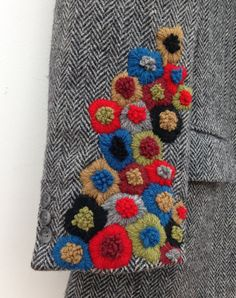 Hand Embroidered Vintage Harris Tweed by didyoumakeityourself