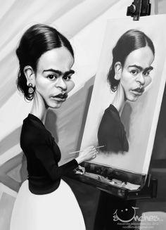 Frida Khalo by creaturedesign.deviantart.com