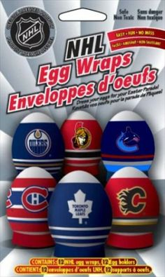For the hockey fans we have NHL Egg Wraps!