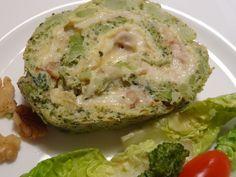 Rocambole de Brócolis com Queijo Camembert e Nozes