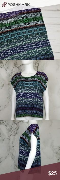 """CAbi Covet Tee Condition:  • Excellent, like new  Measurements: *Flat Lay* • Top to bottom- 24"""" • Pit to pit- 22 1/2""""  L❤VE the item but not the price? Open to any reasonable offer, please don't be shy to ask! CAbi Tops Tees - Short Sleeve"""
