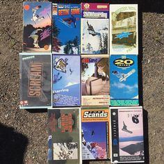 FOUND THESE #twsnow #20tricks #video #vhs #burton #snowboard #skateboard #history #collectible #garagesale #fb