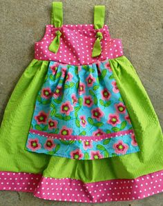 One more of the little girl's dresses I just made.