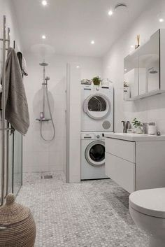 room and bathroom combo designs best laundry bathroom combo ideas on strikingly small laundry room bathroom combination designs. Toilet In Shower Combination Laundry Bathroom Combo, Laundry Room Storage, Laundry Room Design, Downstairs Bathroom, Bathroom Storage, Bathroom Organization, Bathroom Small, Master Bathrooms, Design Bathroom