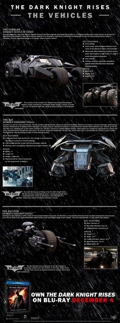 batpod , batmobile , the bat