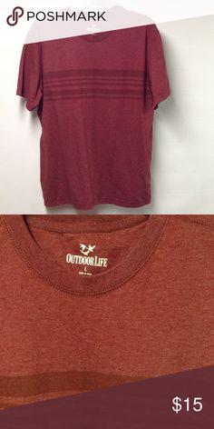 Outdoor Life Shirt Burgundy Like New Outdoor Life Shirts Tees - Short Sleeve