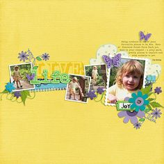 Signs of Spring, In the Middle Templates, both by ChrissyW Fonts - NeoBulletin Extruded (OT1), NeoBulletin Semi Bold, Playhouse