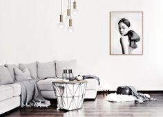 Grayscale Scandinavian living room