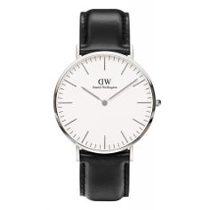 Ladies Daniel Wellington Classic St Andrews Lady rose gold-plated and brown leather strap watch. The Daniel Wellington Classic St Andrews Lady is an elegant timepiece and the epitome of perfection in engineering. This St Andrews model has a refined eggshe Daniel Wellington Schwarz, Daniel Wellington Men, Daniel Wellington Classic Sheffield, Black Leather Watch, Leather Watch Bands, Brown Leather, Gold Leather, Leather Case, Men Watches