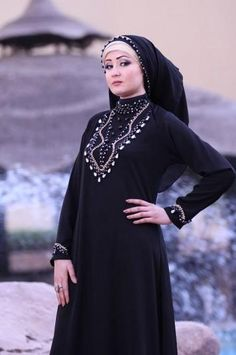 Elegant and stylish Abaya for Girls is now a fashion among girls Abaya Designs 2014 Abaya Designs Latest Dubai Bahrain. Hijab Fashion 2016, Abaya Fashion, South African Fashion, African Fashion Designers, Turban, Abaya Designs Latest, Islamic Fashion, Islamic Clothing, Scarf Styles