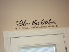 Before & After: Bless this kitchen vinyl wallart