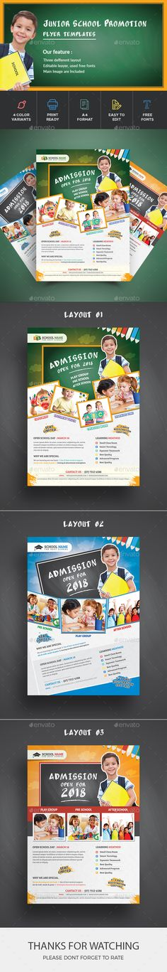 School Flyer by deviserpark This is a School Flyer Template, can be used for promote your property product, interior design, etc. File features : Features:Ea