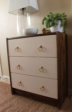 RAST hack. #dresser # Ikea #DIY  Jen this is what you need on the other side of your bed.