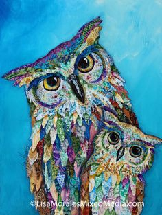 Ideas For Magazine Collage Art Mixed Media Paper Collage Art, Collage Art Mixed Media, Owl Art, Bird Art, Magazine Collage, Ideas Magazine, Animal Quilts, Owl Quilts, Collaborative Art