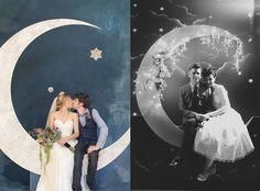 Zaproszenia ślubne w gwiazdy.