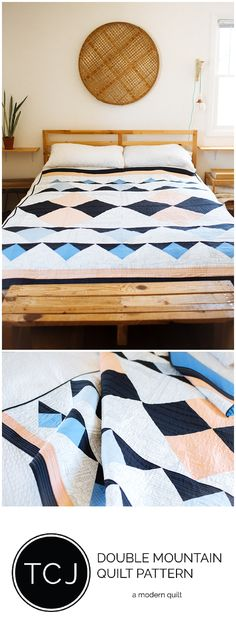 Double Mountain Quilt Pattern.