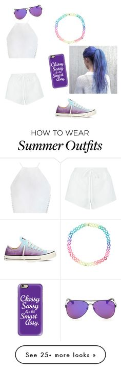 """Blue and purple summer outfit"" by emo69 on Polyvore featuring Zimmermann, Chloé, Accessorize, Casetify and Converse"