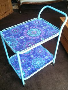 Upcycled hostess trolley. I have 2 of these and they're great for a bit of storage.