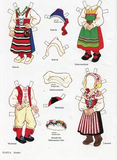 book - libro - scandinavian girl and boy - paper doll - sweden | Flickr - Photo Sharing!