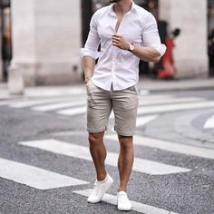 Stylish Mens Outfits, Summer Fashion Outfits, Casual Summer Outfits, Fashion Ideas, Outfit Summer, Short Outfits, Fall Outfits, Fashion Tips, Mode Man