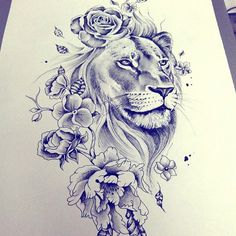 Image result for female lion and sun tattoo