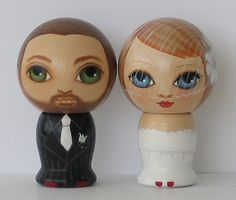 Custom Wedding Cake Toppers Hand Painted by Dandelionland