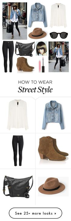 """""""Inspired look"""" by fashion-girl1200 on Polyvore featuring Derek Lam, MANGO, Mykita, H&M, FOSSIL, Isabel Marant, MAKE UP STORE and WigYouUp"""