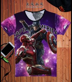 2015 New fashion Captain America Style Shield design men t-shirt the avengers vintage male tops short sleeves casual tee shirts