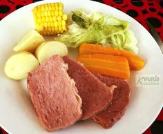Recipe Corned Beef - Silverside - Kermie Kreations by Kermie Kreations - Recipe of category Main dishes - meat Corned Beef Recipes, Meat Recipes, Cooking Recipes, Corned Beef Silverside, Corn Beef And Cabbage, Corn On Cob, Meals For One, Main Dishes, Steak