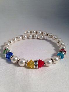 Grandmother's birthstone bracelet mother's by KCstylejewelry