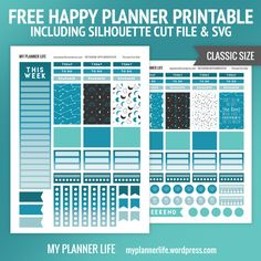 Free Printable Moon and Stars Planner Stickers from My Planner Life