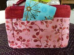 Love the colors Handcrafted Pink and Red  Zipper Coin Purse/ Mini by AShop4Kicks, $7.00