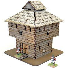 Terrain Log Timber Block House Pack MINT for sale online American Legend, American War, Model Supplies, Trap Door, Laser Cut Mdf, War Of 1812, Cannon, The Unit
