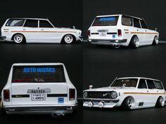 Datsun Scale Model Cars.