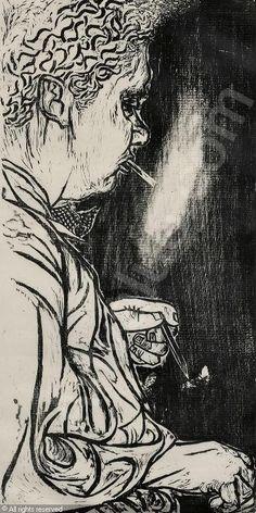 Portrait of Dylan Thomas, Antonio Frasconi