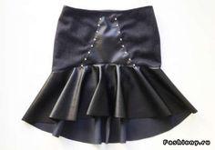 Перешиваем юбку-карандаш в юбку с баской внизу. Комментарии : LiveInternet - Российский Сервис Онлайн-Дневников