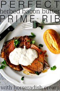 the perfect prime rib recipe with horseradish cream sauce