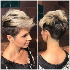 Trendy Messy Frisuren für kurzes Haar, Frauen Short Haircut Ideen ... | Einfache Frisuren