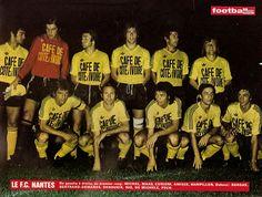 F.C NANTES 1974-75. Fc Nantes, Team Photos, Guitar Lessons, Michel, Football Soccer, Forever, Bertrand, Patrice, Jean Paul