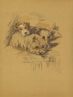 PUPPY PALS 1930s Lucy Dawson Dog Print Terrier by HucksterHaven, $17.00